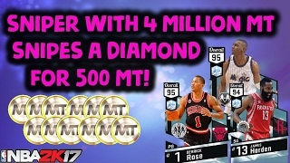 sniper with 4 million mt sniped a diamond for 500 nba 2k17 top 5 snipes of the week