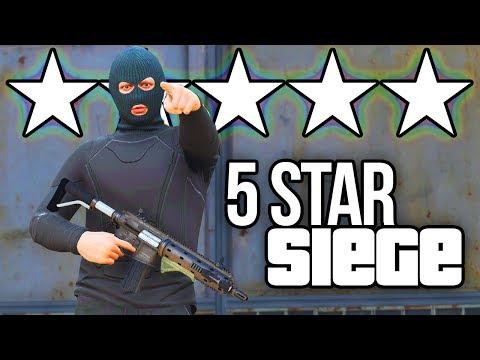 GTA 5 ONLINE - 5 STAR SIEGE!!! (5 STAR WANTED LEVEL CHALLENGE)