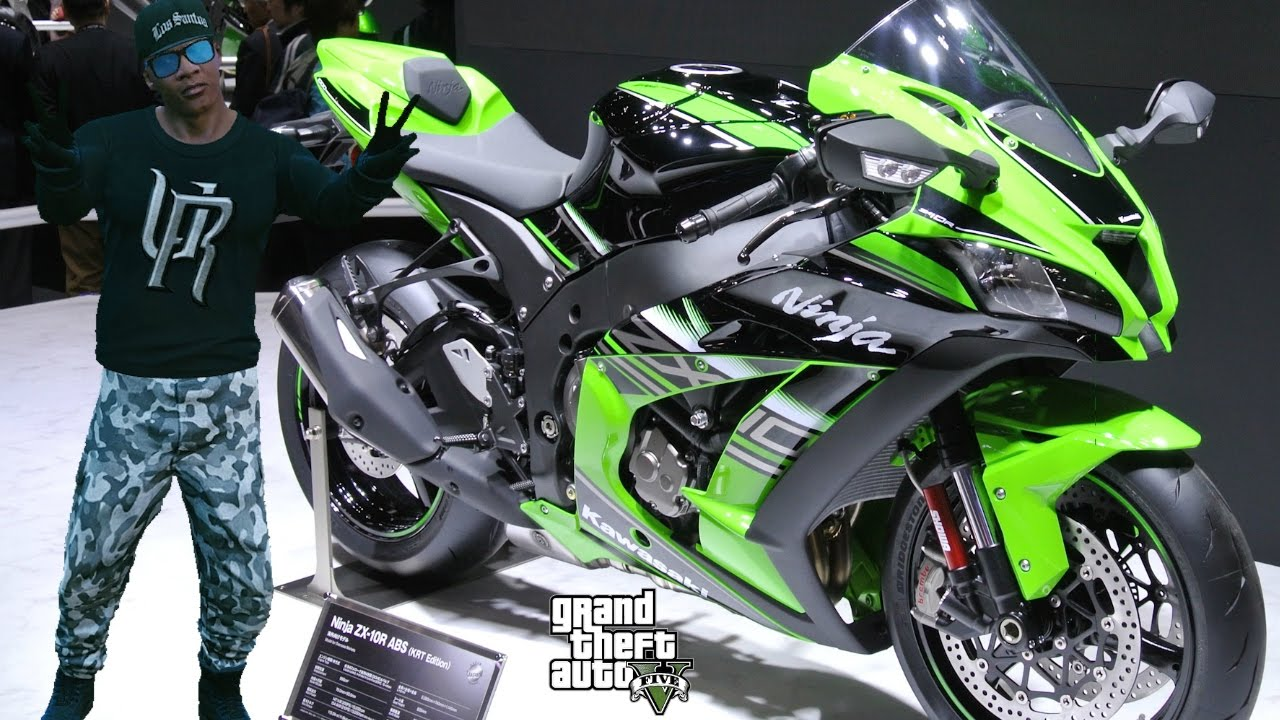 Gta 5 Real Life Mod 99 Franklin S New Bike Kawasaki Ninja Zx 10r