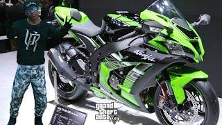 GTA 5 REAL LIFE MOD#99-FRANKLIN'S NEW BIKE!(Kawasaki Ninja ZX-10R)