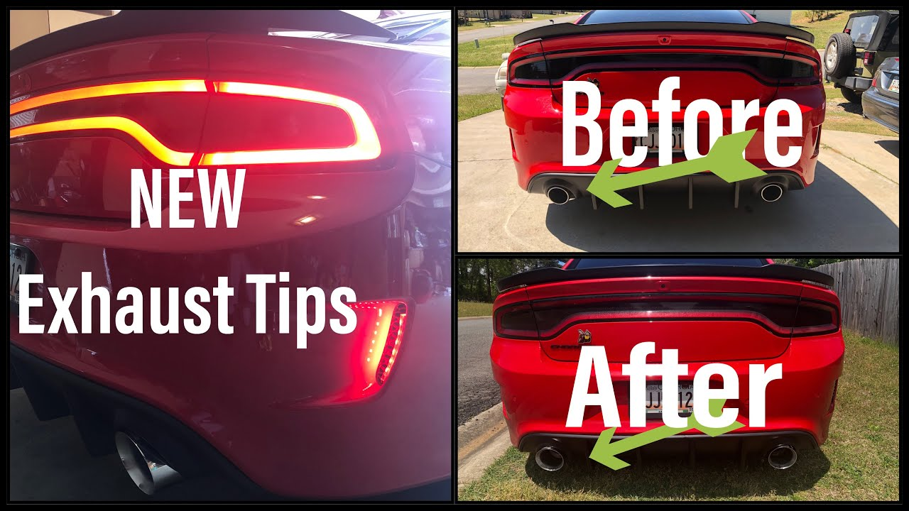 carven 5 inch exhaust tips easy dodge charger mod