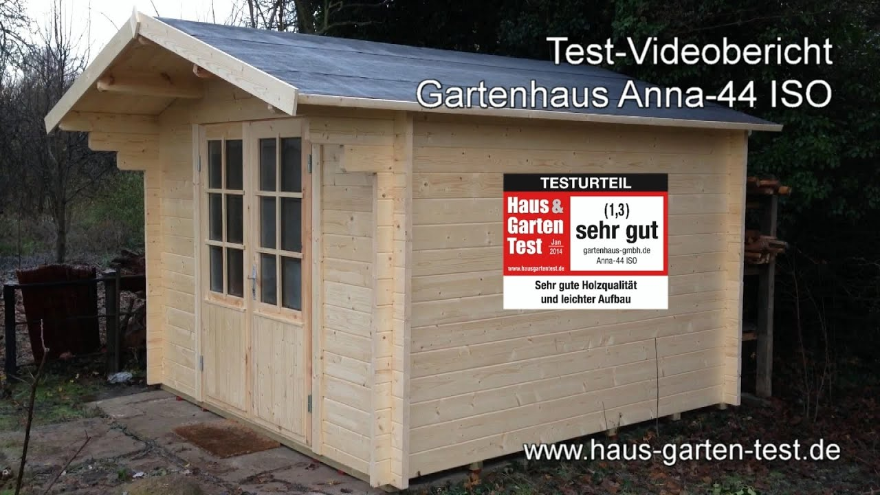 testvideo gartenhaus anna 44 iso aufbau youtube. Black Bedroom Furniture Sets. Home Design Ideas