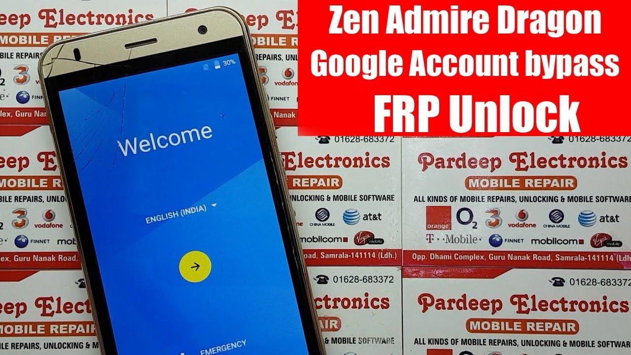 Zen Admire Dragon Google Account bypass Frp Unlock | Pardeep Electronics
