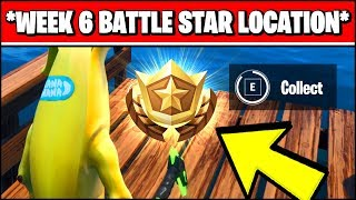 WEEK 6 SECRET BATTLE STAR LOCATION SEASON X (Fortnite Loading Screen 6 Battle Star)