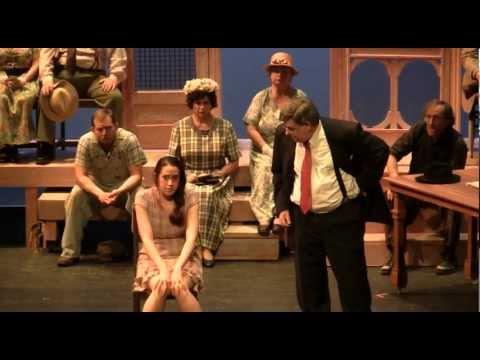 Mayella Ewell (Elyse Rodriguez) under oath - To Kill A Mockingbird - bob ewell to kill a mockingbird