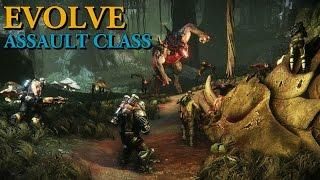 Evolve Alpha Gameplay - Markov Assault Class