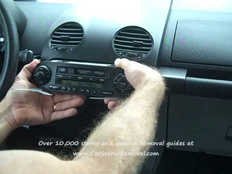 how to volkswagen bose new beetle car radio removal and repair