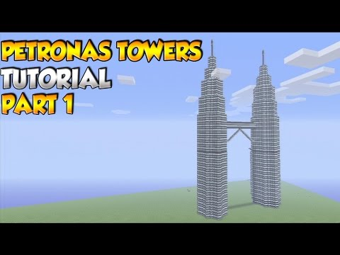 Minecraft Petronas Towers Tutorial PART 1 - XBOX/PS3/PC