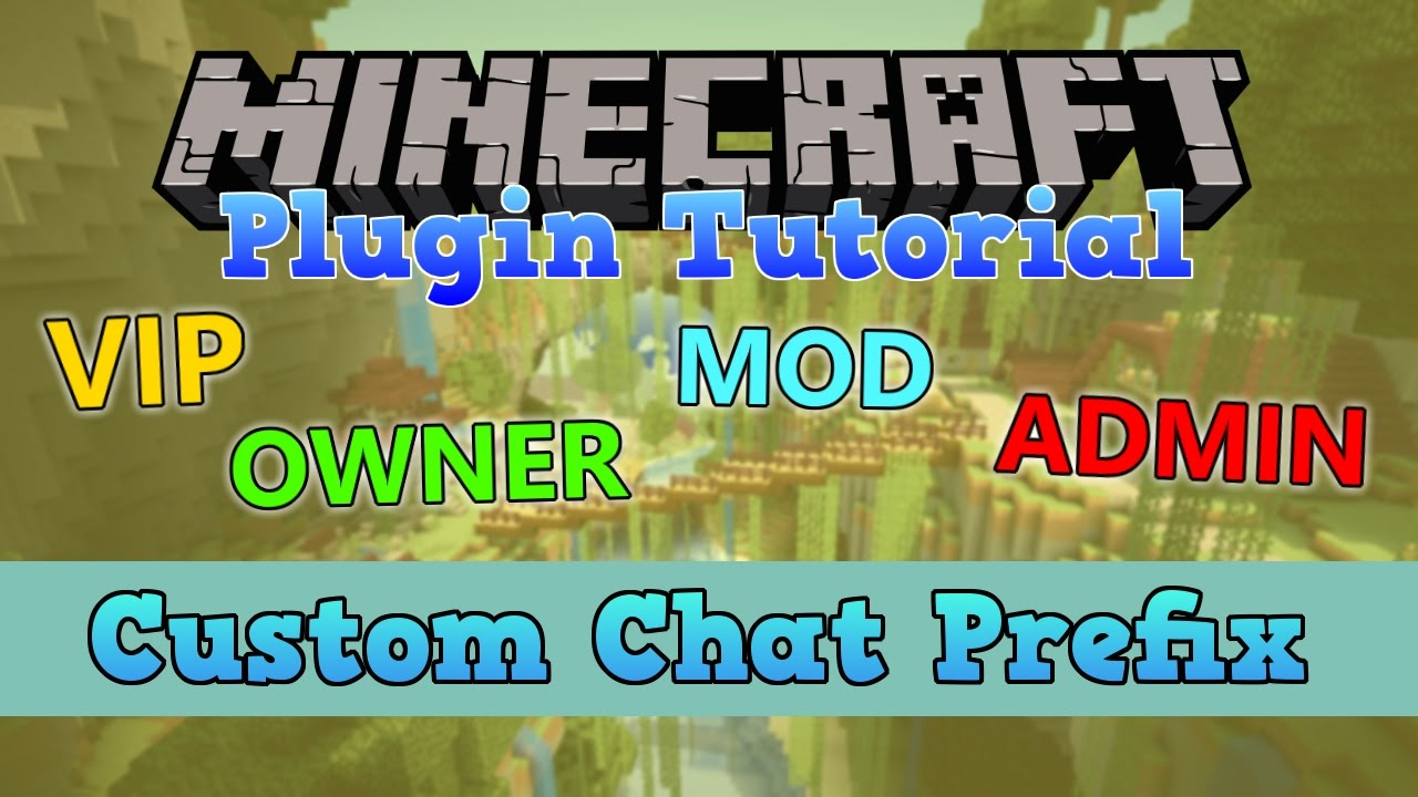 Minecraft chat prefix plugin 1 12 | Chat Formatting  2019-05-06