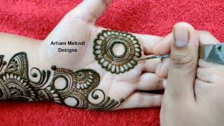Latest Arabic Mehndi Design for Front Hand || Simple Easy Mehndi Design || Arham Mehndi Designs