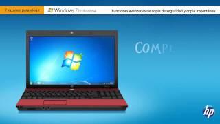 Ventajas de Windows 7 Professional en equipos HP