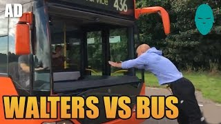 Jumping Through a MOVING BUS! | Damien Walters