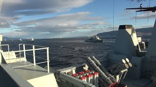 TRIDENT JUNCTURE 2018 - Greek and Romanian personnel onboard NATO Standing Martime Group 2