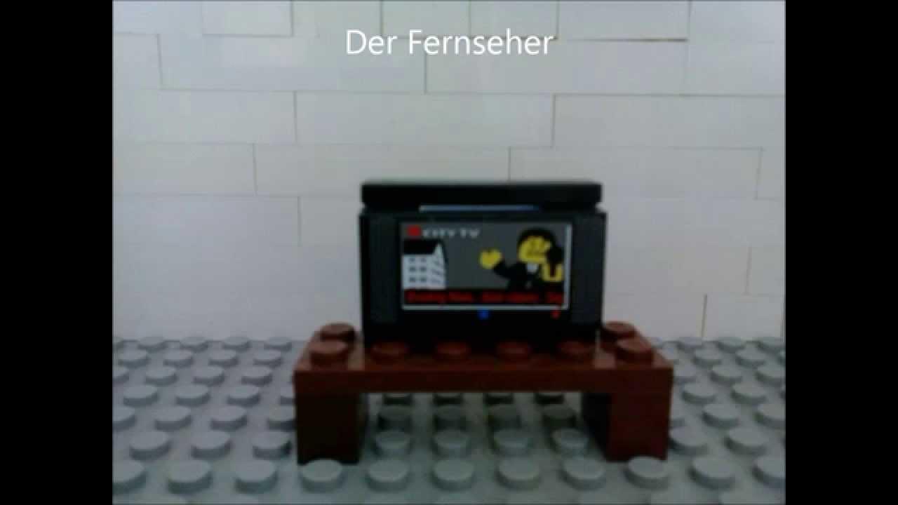 lego bauanleitung f r fernseher mit tisch youtube. Black Bedroom Furniture Sets. Home Design Ideas
