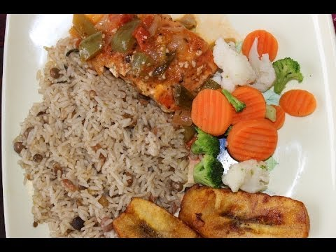 How to cook real jamaican seared salmon and rice peas for Fish and veggie diet