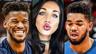 RUMOR: Jimmy Butler Was Hitting Up Karl-Anthony Towns' Girlfriend