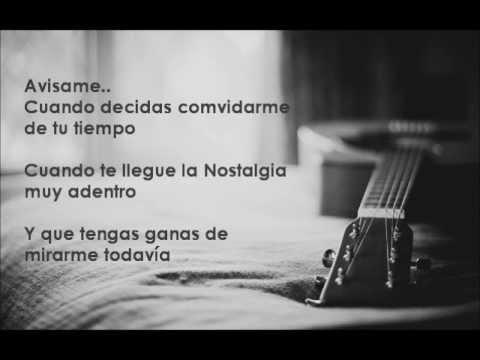 Chuy Lizarraga - Avisame (Letra)