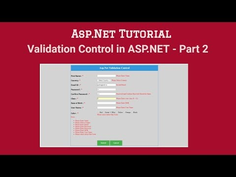 (#5) What Is Validation Control In ASP.NET - Part 2 | Asp.Net Tutorial