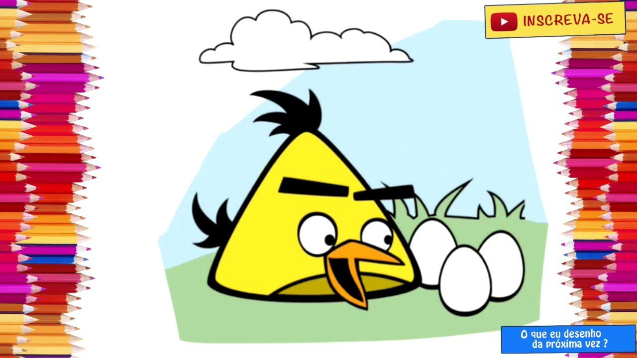 Desenho Angry Birds Menina Para Colorir: Desenho Animado