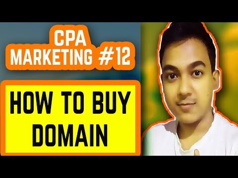 CPA Marketing #12 |How To Buy A Domain Name For Creating A Landing Page|
