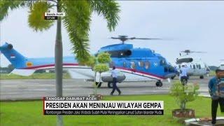 Naik Heli Super Puma, Presiden Jokowi Menuju Lokasi Terdampak Gempa