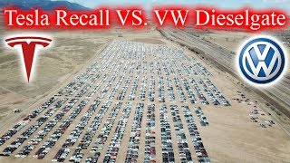 Tesla Recall? VW Dieselgate update. So many abandoned cars.