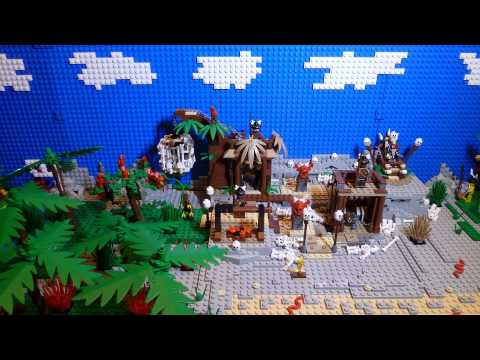 LEGO Pirates of the Caribbean The Cannibal Escape 4182 Stop Motion Movie + Build