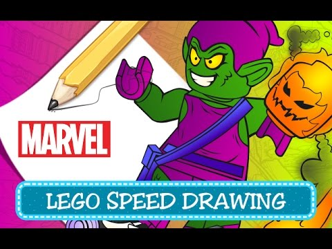 How To Draw Goblin Come Disegnare Goblin Lego Marvel Super Heroes