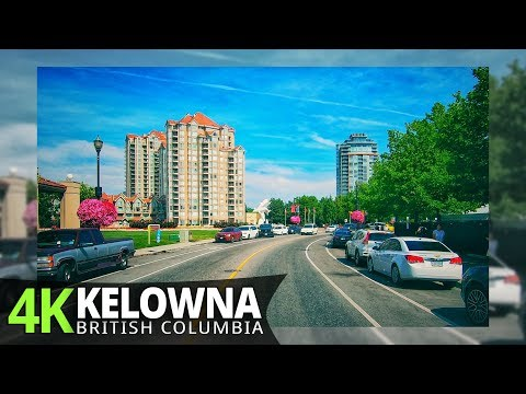 Kelowna 4K60fps - Driving Downtown - British Columbia, Canada