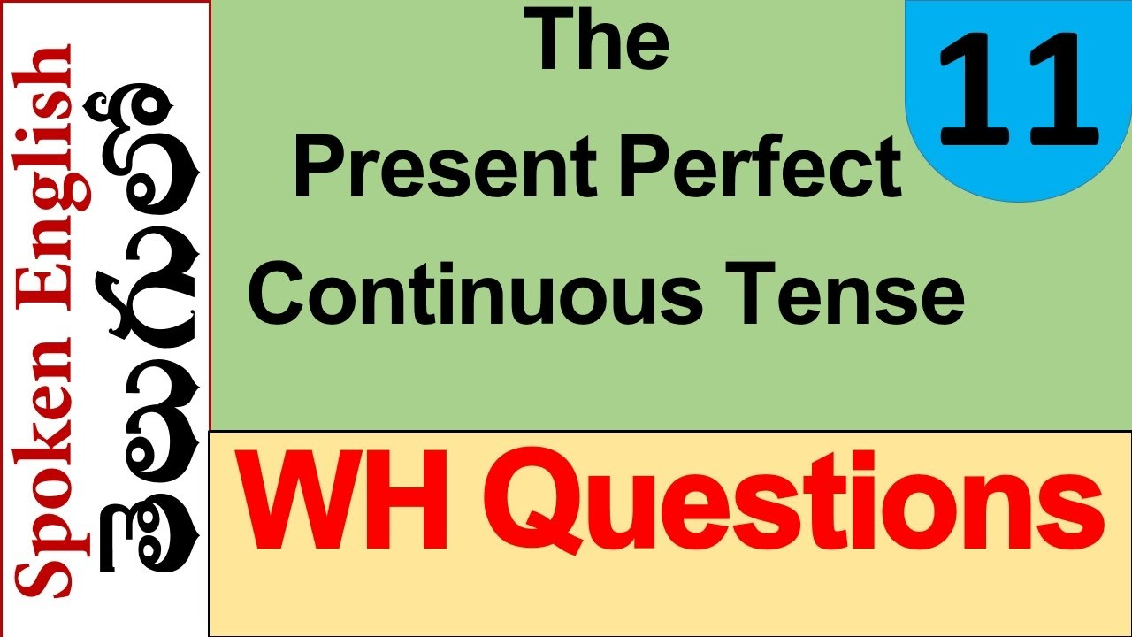 WH Questions in The Present Perfect Continuous Tense Part 2 - YouTube