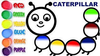 Caterpillar Coloring Page | Learn Colors forKids