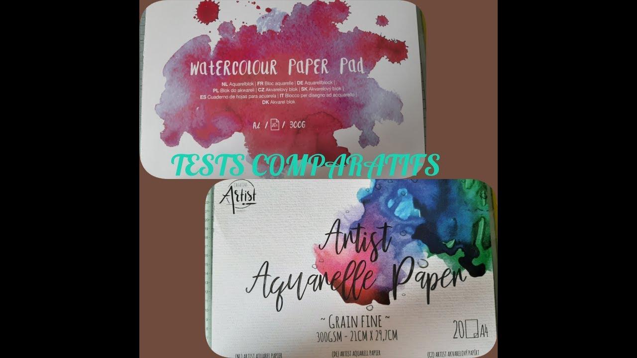 Tests Papier Aquarelle Artist De Action Aquarelle Rose Youtube