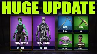 Fortnite Battle Royale New Update Overview - New Custom Skins And More
