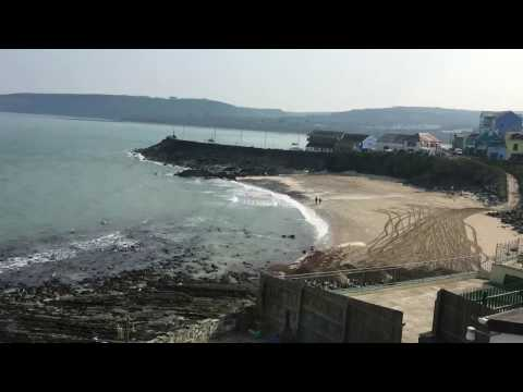New Quay beach works - returning Dolau Beach from the harbour