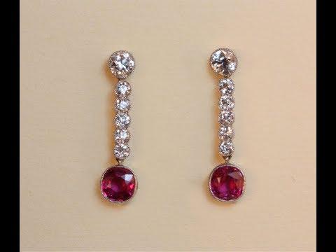 Elagant Designs Of Ruby White Gold Earrings
