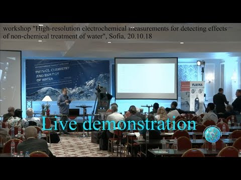 Live measurement of non-chemically treated water (the water conference 2018)