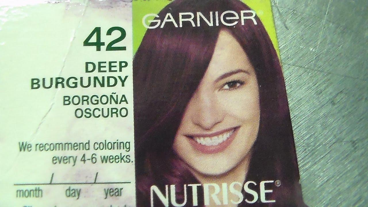 From White Hair To Purple Garnier Nutrisse Deep Burgundy 42 Youtube
