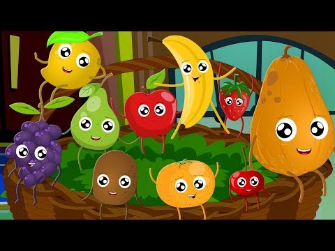 Ten Little Fruits Jumping On The Bed  Fruits Song  Learn Fruits  Nursery Rhymes Song For Children