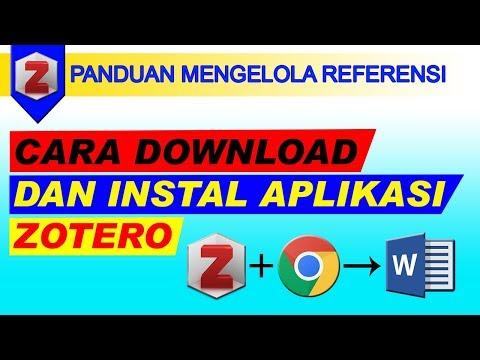Cara Download Dan Instal Aplikasi Zotero