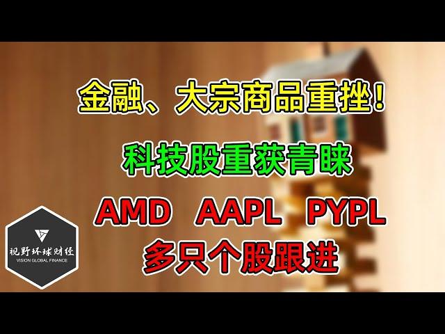 美股 金融、大宗商品重挫!科技股重获青睐!AMD、AAPL、PYPL等更新!