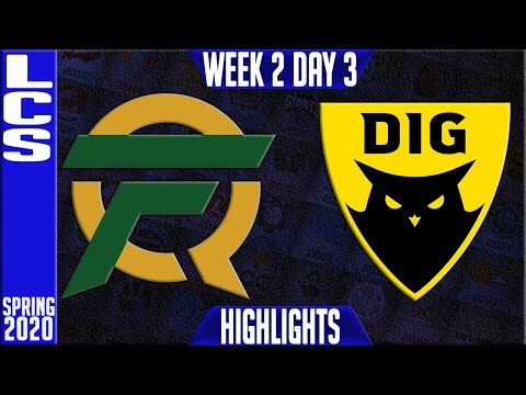FLY vs DIG Highlights | LCS Spring 2020 W2D2 | FlyQuest vs D