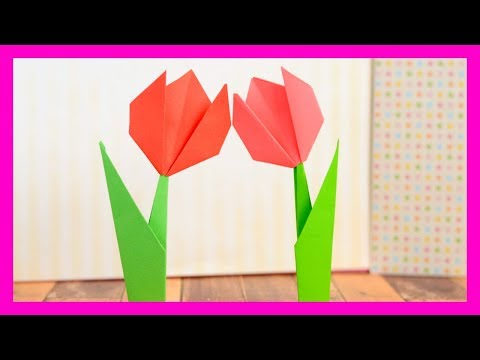 How to Make Origami Flower - simple flower craft idea