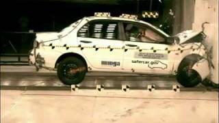 Краш-тест - Mitsubishi Lancer IX 2006 (Frontal Impact NHTSA)
