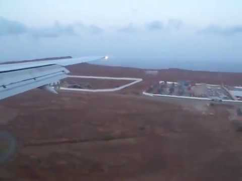 Landing on Praia International Airport Cape Verde