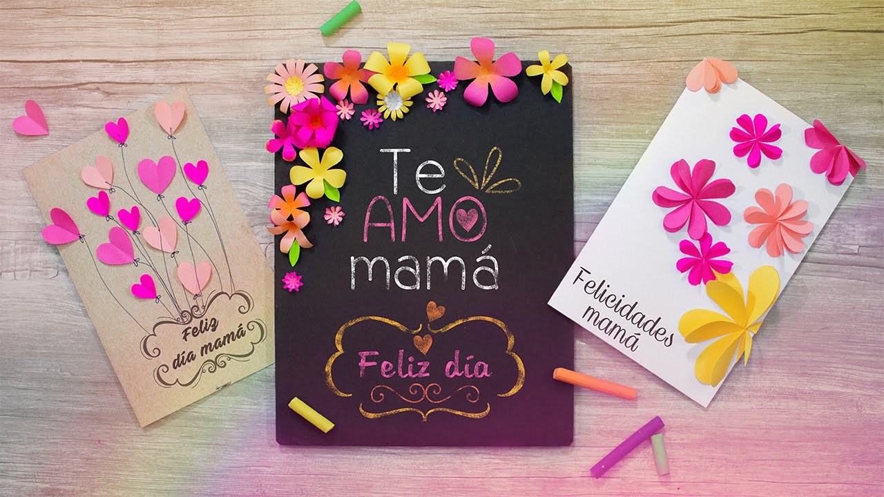 DIY Las tarjetas de felicitación mas lindas ESPECIAL PARA MAMÁ YouTube