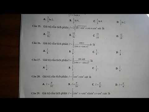 Tính tích phân của hàm lượng giác bằng phương pháp đổi biến số