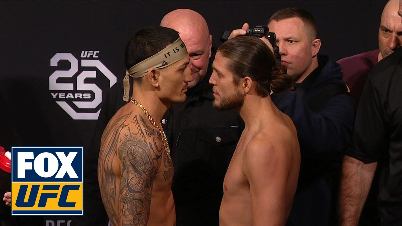 Brian Ortega faces off with Max Holloway | WEIGH-IN | UFC 231