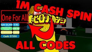 +1M CASH CODES QUIRK SPIN [ALL CODES] Legendary Quirk from Normal Spin | BOKU NO ROBLOX REMASTERED