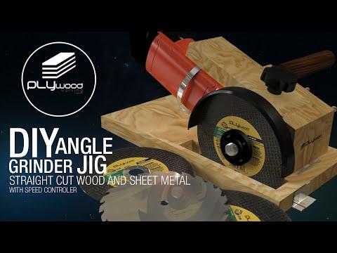 DIY | Angle Grinder Cutting Jig Easy Straight Cut Wood & Sheet Metal