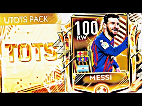 I GOT 100 OVR UTOTS MESSI IN FIFA MOBILE ! Greatest Utots master gameplay and pack in fifa Mobile 19